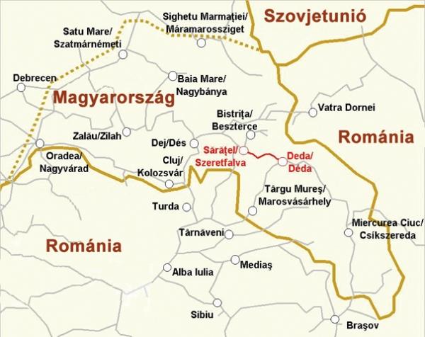 észak erdély térkép A Szeretfalva–Déda vasútvonal építése észak erdély térkép